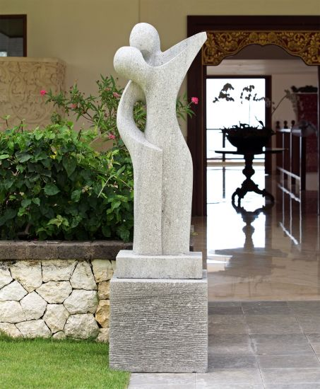 Affection Modern Art Stone Statue - Large Garden Sculpture