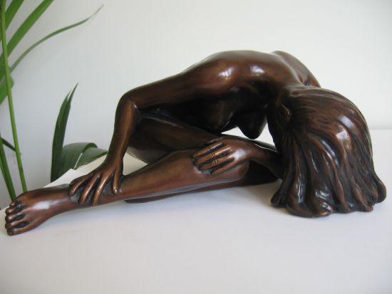 Alessandra Bronze Sculpture - Nude Female Modern Figurine