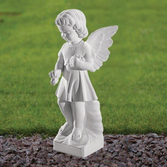 Angel Figurine 47cm Religious Statue - Marble Garden Ornament