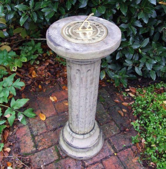 Brighton Brass Stone Sun Dial - Garden Sundial