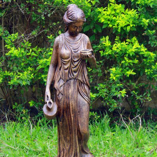 Hebe 160cm Bronze Marble Resin Garden Statue