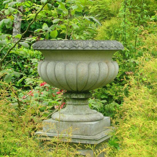 Burghley Stone Plant Urn - Large Garden Planter