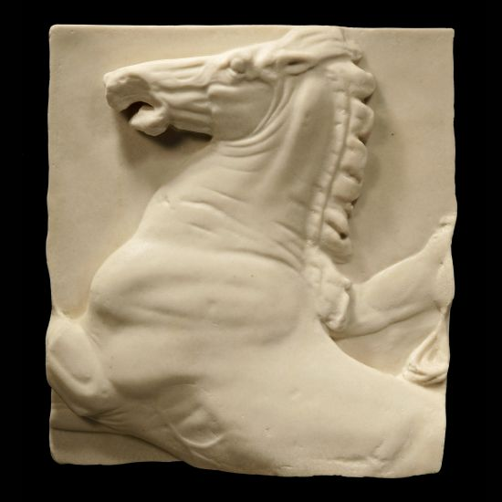 Elgin Horse Head Parthenon Marbles - Ancient Greek Wall Relief Plaque