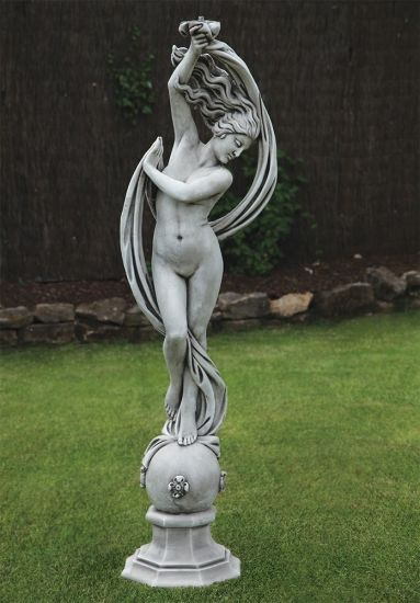 Exotic Dancer Nude Stone Sculpture - Large Garden Statue