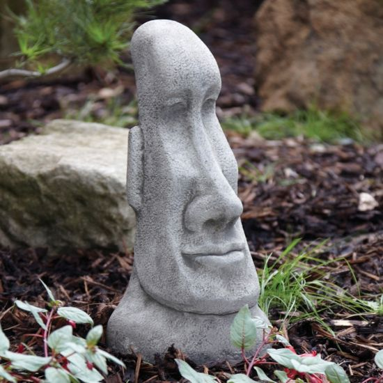 Female Head Sculpture - Large Easter Island Head Statue