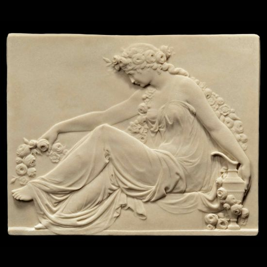 Flower Goddess - Ancient Greek Marble Wall Relief Plaque