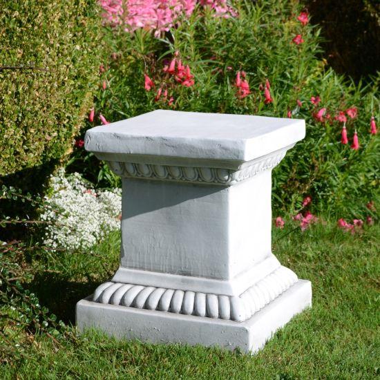 Garden Statue Pedestal 36cm White Stone
