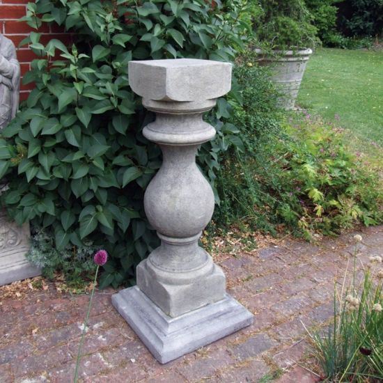 Grand Baluster Column Pedestal - Stone Statue Plinth