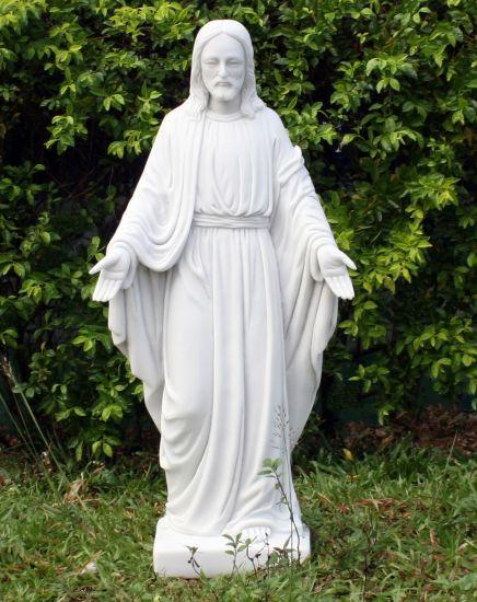 Jesus 80cm Marble Resin Garden Statue