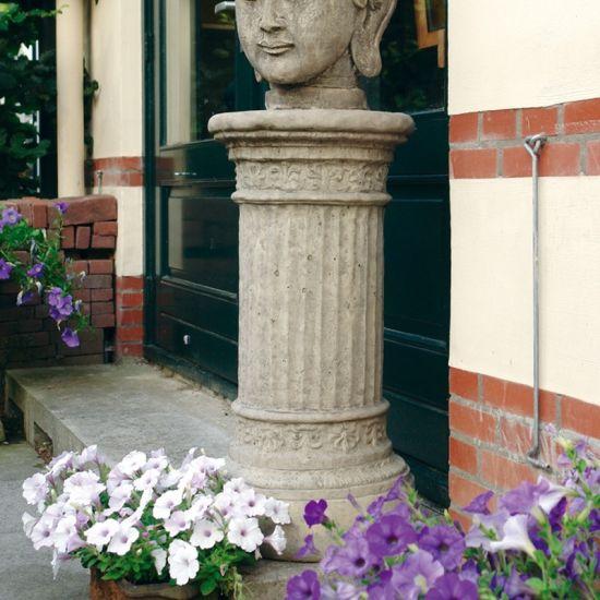 Large Doric Column Pedestal - Stone Statue Plinth