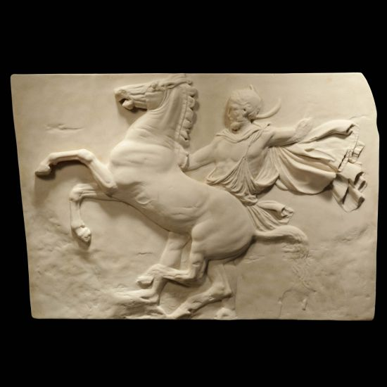 Lone Horseman Parthenon Marbles - Ancient Greek Wall Relief Plaque