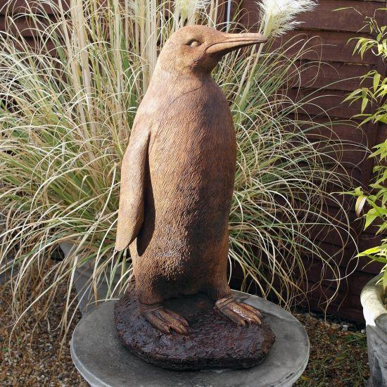 Monty the Penguin Ash Stone Statue  - Garden Ornament