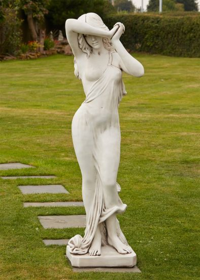 Naked Woman Figurine Stone Sculpture - Large Garden Statue