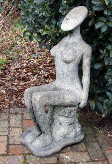Nude Fadila Modern Stone Statue - Large Garden Sculpture