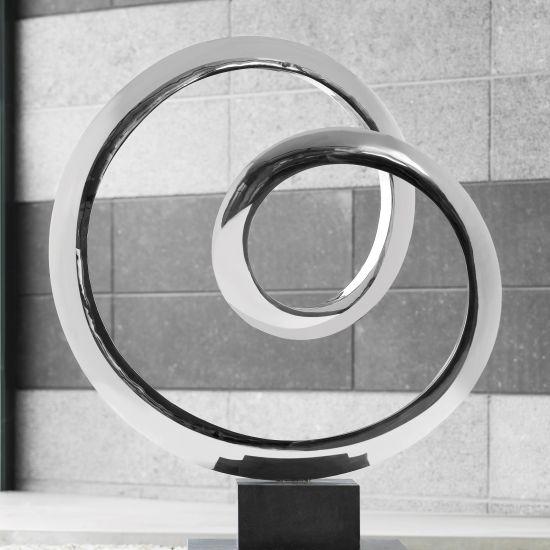 Orbital Metal Sculpture - Indoor Contemporary Art Statue
