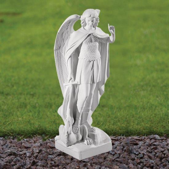 Saint Michael 40cm Religious Sculpture - Marble Garden Statue