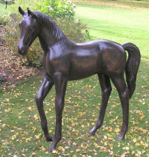 Standing Foal Bronze Metal Horse Garden Statue