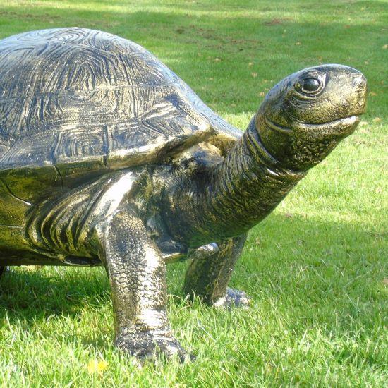 Travelling Turtle Bronze Metal Garden Ornament