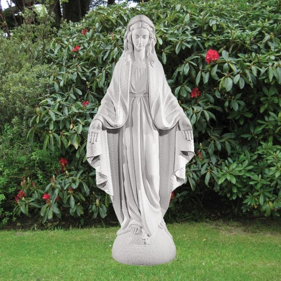 Virgin Mary 117cm Religious Sculpture - Marble Garden Statue