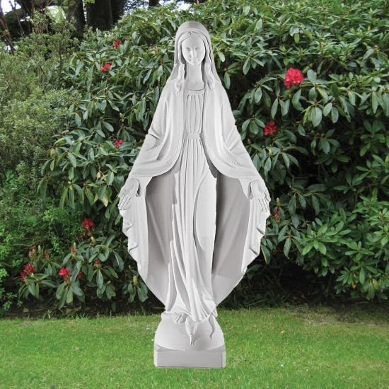 Virgin Mary 75cm Religious Sculpture - Marble Garden Statue