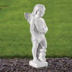 Angel Figurine 30cm Religious Statue - Marble Garden Ornament
