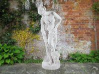 Bathing Lady 40cm Greek Garden Sculpture - Large Marble Statue