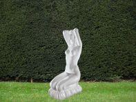 Bathing Venus 100cm Greek Garden Sculpture - Large Marble Statue