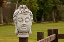Buddha Head Stone Bust Statue - Large Garden Ornament