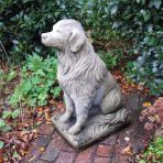 Golden Retriever Dog Stone Sculpture - Large Garden Statue