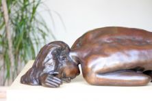 Caterina I Bronze Sculpture - Erotic Nude Female Modern Figurine
