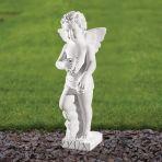 Cherub Figurine 44cm Religious Sculpture - Marble Garden Statue