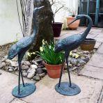 Classic Cranes Bronze Metal Garden Ornaments