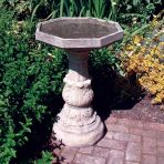Classic Plain Stone Birdbath Feeder - Garden Bird Bath