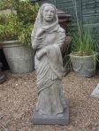 Cloaked Lady Stone Sculpture - Large Garden Statue