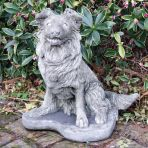 Collie Puppy Dog Statue - Large Garden Ornament