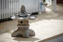 Double Top Japanese Pagoda Lantern - Chinese Garden Ornament