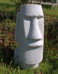 Easter Island Head 70cm Granite Resin Garden Statue