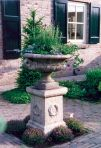 Edwardian Plant Pot on Laurel Plinth - Large Garden Planter