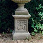 Emblem Column Pedestal - Stone Statue Plinth