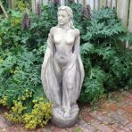 English Maid Stone Sculpture - Large Garden Statue