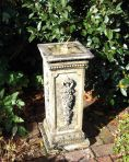 Floral Brass Stone Sun Dial - Garden Sundial