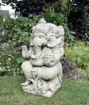 Ganesh Stone Buddha Ornament - Large Garden Statue