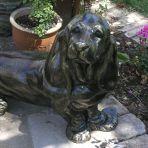 Bassett Hound Dog Bronze Metal Garden Statue