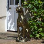 Bronson Great Dane Dog Bronze Metal Garden Statue