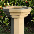Gothic Design Stone Birdbath - Large Garden Bird Bath