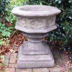 Gothic Font Stone Plant Pot - Large Garden Planter