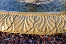Grand Double Tier 4m Sandstone Stone Water Fountain Feature