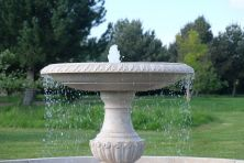 Grand Single Tier 3m Golden Marble Stone Water Fountain Feature