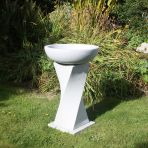 Granite Resin Birdbath Feeder - Garden Bird Bath