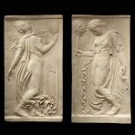 Greek Goddess Pair - Ancient Greek Marble Wall Relief Plaque
